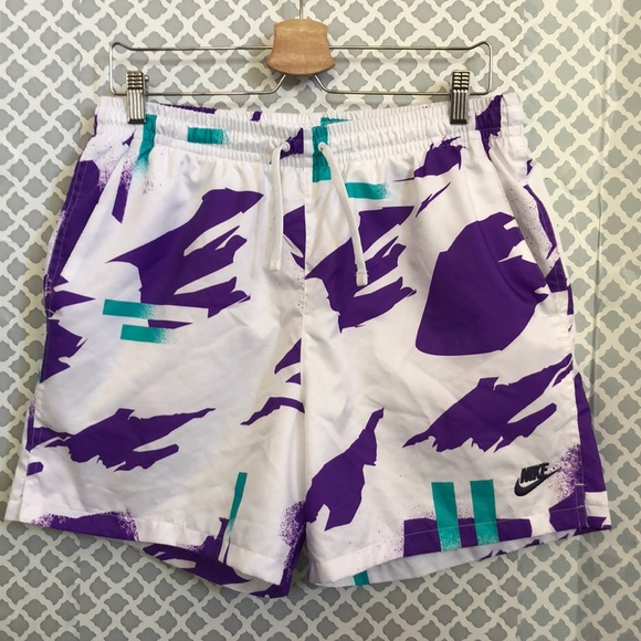 Nike Other - Nike short purple teal drawstring swim trunks